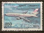 Sellos del Mundo : Asia : Turquía : Emisión regular de correo aereo.(DC-10).