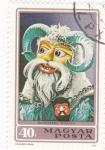 Sellos de Europa - Hungría -  mascara