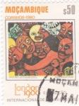 Sellos de Africa - Mozambique -  exposición inter.de sellos postales