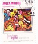 Stamps Mozambique -  exposición inter.de sellos postales