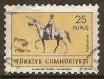 Sellos del Mundo : Asia : Turquía : Estatua ecuestre de Atatürk en Ankara.