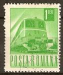 Sellos de Europa - Rumania -  Transportes y telecomunicaciones-ferrocarril,diesel-electrico (b).