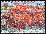 Sellos del Mundo : Europa : Reino_Unido : Armada - Plymouth