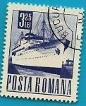 Stamps Romania -  Comunicaciones  y Transportes - Barco