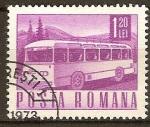 Sellos de Europa - Rumania -  Transportes y telecomunicaciones-Bús de motor Coach.