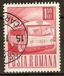 Sellos del Mundo : Europa : Rumania : Transportes y telecomunicaciones-trolebús.