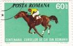 Stamps : Europe : Romania :  centenario de carreras de caballos en Rumania