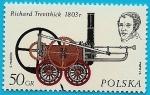Stamps Europe - Poland -  Richard Trevithick - La primera locomotora del mundo