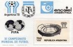 Sellos de America - Argentina -  campeonato mundial de futbol argentina 78