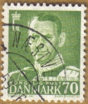 Stamps Europe - Denmark -  FREDERICK IX