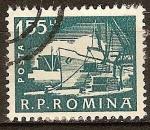 Sellos de Europa - Rumania -  Puertos,barcos y naves.(muelle)