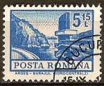 Sellos del Mundo : Europa : Rumania : Estación de energía hidroeléctrica.