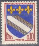 Stamps : Europe : France :  FRANCIA SCOTT 1041 ESCUDO DE ARMAS DE TROYES. $0.2