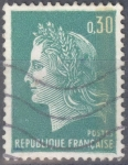 Stamps : Europe : France :  FRANCIA SCOTT 1231C.02 MARIANNE POR CHEFFER. $0.2
