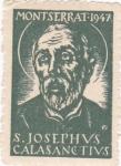Stamps : Europe : Spain :  MONTSERRAT-1947 S.JOSEPHVS CALASANCTIVS