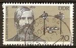 Sellos de Europa - Alemania -  Albrecht von Graefe (ophthalmatician, 150)DDR.