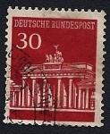 Stamps Germany -  Puerta de Brandenburgo