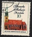 Stamps Germany -  Iglesia de Santa María - Berlín