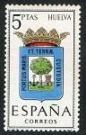 Sellos de Europa - España -  1491-  Escudos de las capitales de provincias españolas. HUELVA.