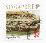 Sellos del Mundo : Asia : Singapur : rio de singapur