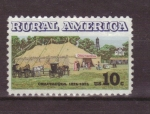 Stamps United States -  serie- america rural