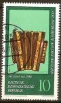 Sellos de Europa - Alemania -    Instrumentos antiguos de la Vogtland.Acordeón (1900)DDR.