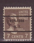 Stamps United States -  andrew jackson