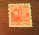 Sellos de Europa - Yugoslavia -  Overprint / lugares de interes