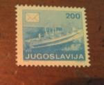 Sellos de Europa - Yugoslavia -  Overprint ship