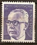Stamps Germany -  Presidente  Gustav Heinemann. (De 1969 hasta 1974).