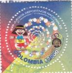 Sellos de America - Colombia -  XVII juegos deportivos nacionales