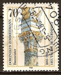 Sellos de Europa - Alemania -  Capitel de Dominikus Zimmermann 1685-1766(arquitecto).
