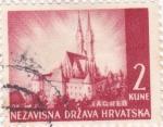 Sellos de Europa - Croacia -  Zagreb