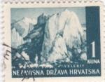 Sellos de Europa - Croacia -  paisaje-Velebit