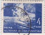 Stamps Croatia -  paisaje-Drina