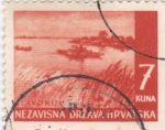 Sellos de Europa - Croacia -  paisaje-lavonija
