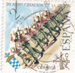 Stamps Spain -  50 aniversario creación de la legion