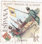 Sellos del Mundo : Europa : España : 50 aniversario creación de la legion