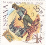 Stamps of the world : Spain :  50 aniversario creación de la legion