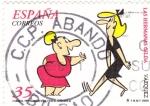 Sellos de Europa - España -  comics,personajes de tebeos- las hermanas gilda