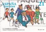 Sellos de Europa - España -  comics,personajes de tebeos- la familia ulises