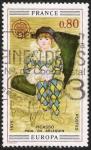 Stamps France -  Pablo de Arlequin - Picasso