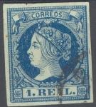 Stamps Europe - Spain -  ESPAÑA 55 ISABEL II