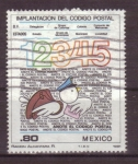 Stamps Mexico -  Implantación del codigo postal