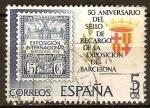 Sellos del Mundo : Europa : España : 50 anivº del sello de recargo de la exp,de Barcelona.1ºsello de emision 1929 y escu,de Barc.