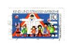 Stamps : Europe : Germany :  kind und strassenverkehr