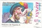 Sellos de Europa - España -  historia de España ll