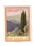 Stamps Italy -  Cipresso