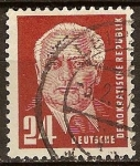 Stamps Germany -  Presidente Wilhelm Pieck(DDR).