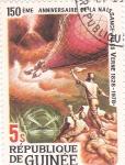 Stamps Guinea -  150  aniversario nac.Julio Verne 1828-1978